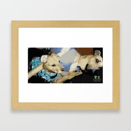 Rescue Dogs Cuddle Framed Art Print