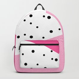 Black dots & pink leader Backpack