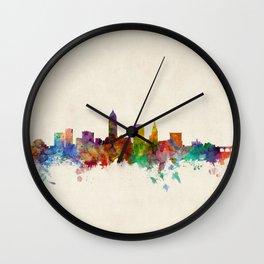 Cleveland Ohio Skyline Cityscape Wall Clock