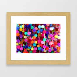 Rainbow Pom-poms (Horizontal) Framed Art Print