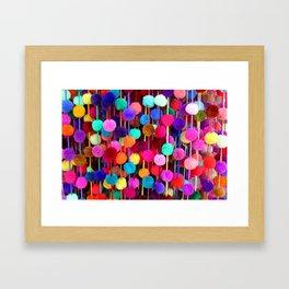 Rainbow Pom-poms (Horizontal) Framed Art Print