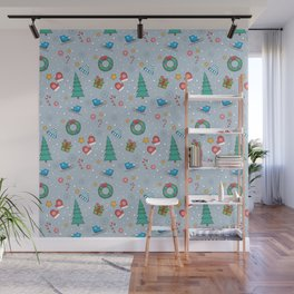 New Year Christmas winter holidays cute Wall Mural
