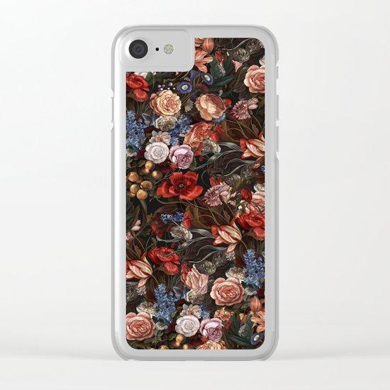 Vintage Summer Floral Clear iPhone Case