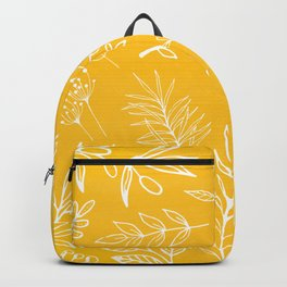 Golden Nature / hand drawn herbs Backpack
