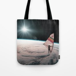 Well on the way, head in a cloud Tote Bag