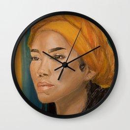 Jhen,singer,soul,portrait,original,oil painting,chilombo,small,poster,print,art,artwork,woman,decor Wall Clock