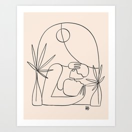 Dreamers no.4 (peach) Art Print