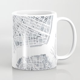 Map Manhattan Gray NYC Coffee Mug
