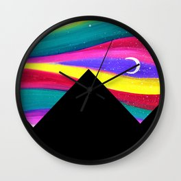 Moonlight Magic - Pyramids Silhouette Wall Clock