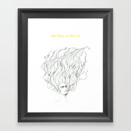 Her Hair in the Air Framed Art Print