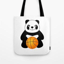 Panda with a basketball ball Tote Bag