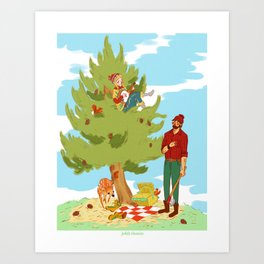 With my Banjo in the Woods Art Print