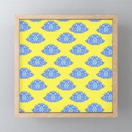 Lotus Pattern Yellow Framed Mini Art Print