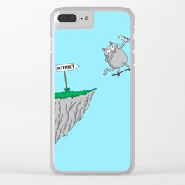 Internet literally (cat edition) Clear iPhone Case