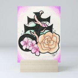 Satanic Bloom Mini Art Print