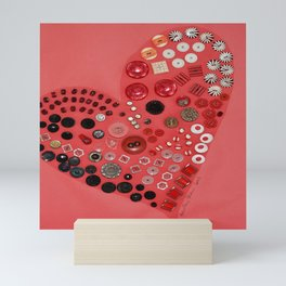 Vintage with a Smile - Red 1900's Buttons Mini Art Print
