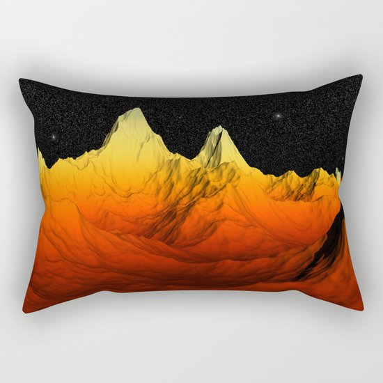 Sci Fi Mountains Landscape Rectangular Pillow