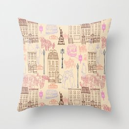 New York City 1900 Throw Pillow