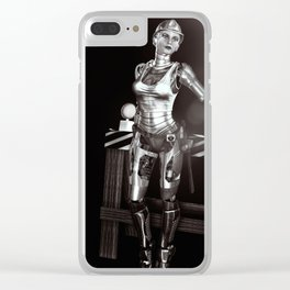 Construction Worker Clear iPhone Case