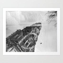 Reflection. Novodevichy convent. Moscow. Art Print