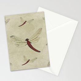 Parchment Dragonflies Stationery Cards