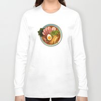 ramen Long Sleeve T-shirts featuring Ramen by Tami Wicinas