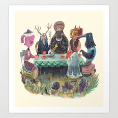 The Art of ruining conversation at dinner parties Art Print