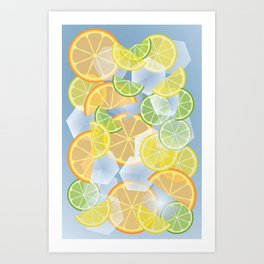 When life gives you citruses... Art Print