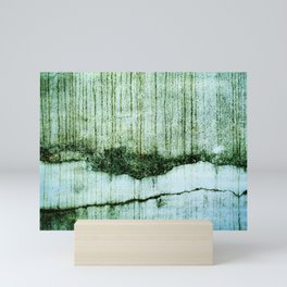 Wall with a river view Mini Art Print