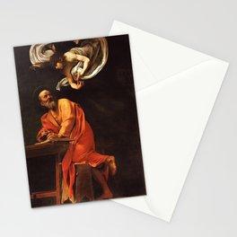 Michelangelo Merisi da Caravaggio - The Inspiration of Saint Matthew Stationery Cards