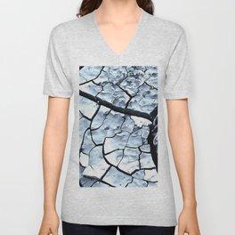 Cracked Dreams in Blue Unisex V-Neck