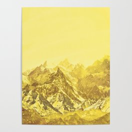 Mountains Yellow Poster