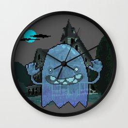 Pixel Ghost Wall Clock