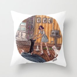 Dance Partner Throw Pillow