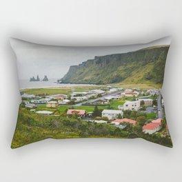 Overlooking Vik, Iceland Rectangular Pillow
