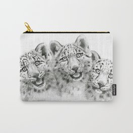 Snow Leopard cubs  SK056 Carry-All Pouch