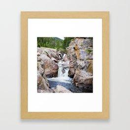 Poudre River Canyon, Colorado Framed Art Print