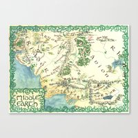 middle earth Canvas Prints featuring Middle Earth map by Ioreth