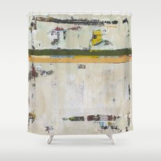 Chariot White Abstract Modern Painting Art Shower Curtain