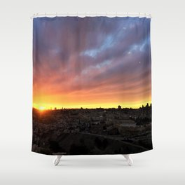 Jerusalem Sunset Shower Curtain