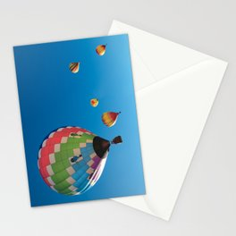Balloons on Blue Stationery Cards