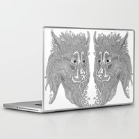 beast Laptop & iPad Skins featuring Beast by Olya Goloveshkina
