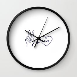 Peace and Love best gift Wall Clock