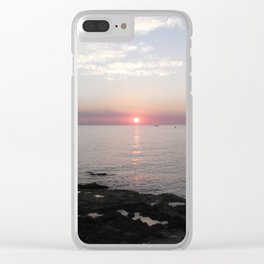 Sunset in Paphos Clear iPhone Case