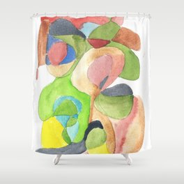 Life and Meaning 11| Abstract Watercolors Shower Curtain