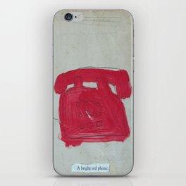 A Bright Red Phone iPhone Skin
