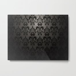 Sophisticated Black Pattern Metal Print