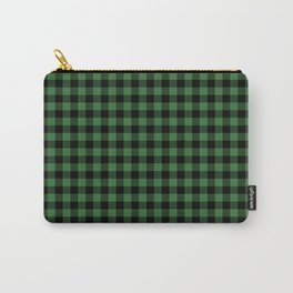 Classic Green Country Cottage Summer Buffalo Plaid Carry-All Pouch