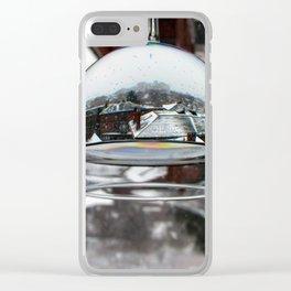 Portland Snow Globe (2) Clear iPhone Case