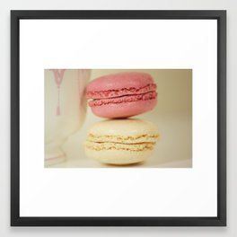 raspberry and coconut Framed Art Print